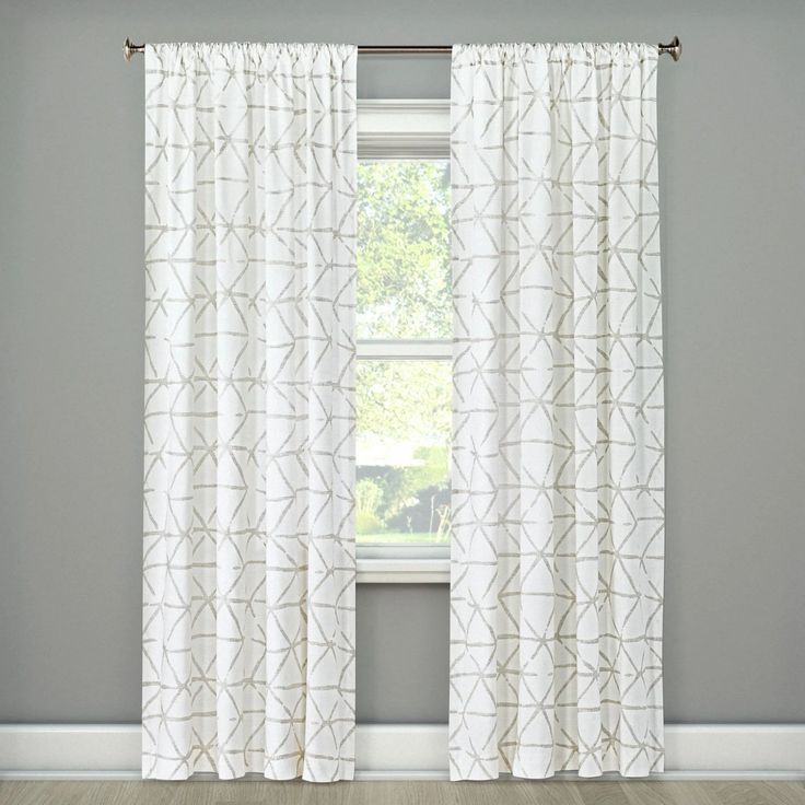 Elegant and affordable farmhouse curtains. New curtains are an easy and cheap way to update the interior design of your home. Hang these gorgeous curtains in your living room, dinning room or bedroom to brighten the space. #curtains #curtainsbedroom #curtainslivingroom #interiordesignideas #afflink