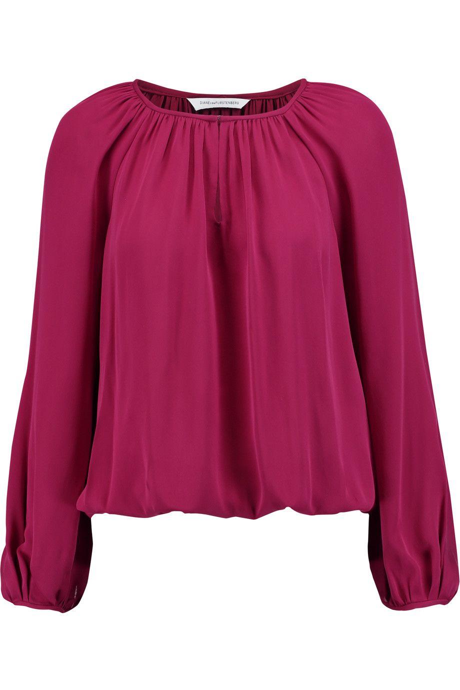 DIANE VON FURSTENBERG Hathaway Silk-Georgette Blouse. #dianevonfurstenberg #cloth #blouse