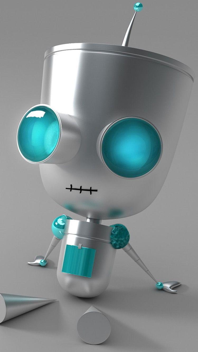 3d robot tap to see more super creative home screen 3d - Robot wallpaper 3d ...
