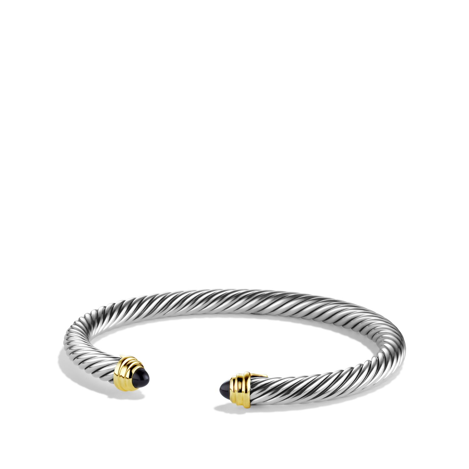 Cable classics bracelet with black onyx and gold style pinterest