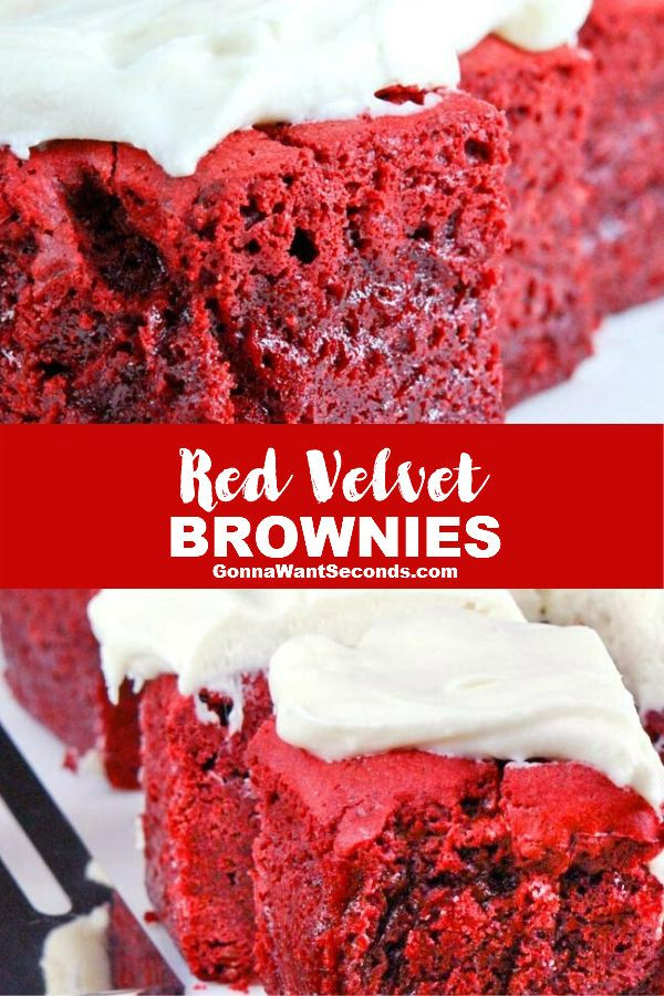 Photo of Red Velvet Brownies (w/ Cream Cheese Frosting)