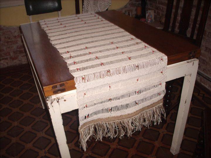 CAMINO DE MESA RUSTICO, TEJIDO EN DOS AGUJAS Tejidos en crochet y