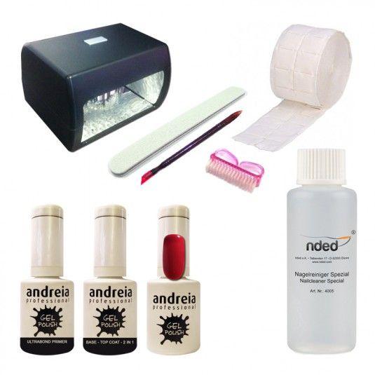 kit vernis uv ou led semi permanent glam lack andreia 210 avec lampe led 7w kits kit led. Black Bedroom Furniture Sets. Home Design Ideas