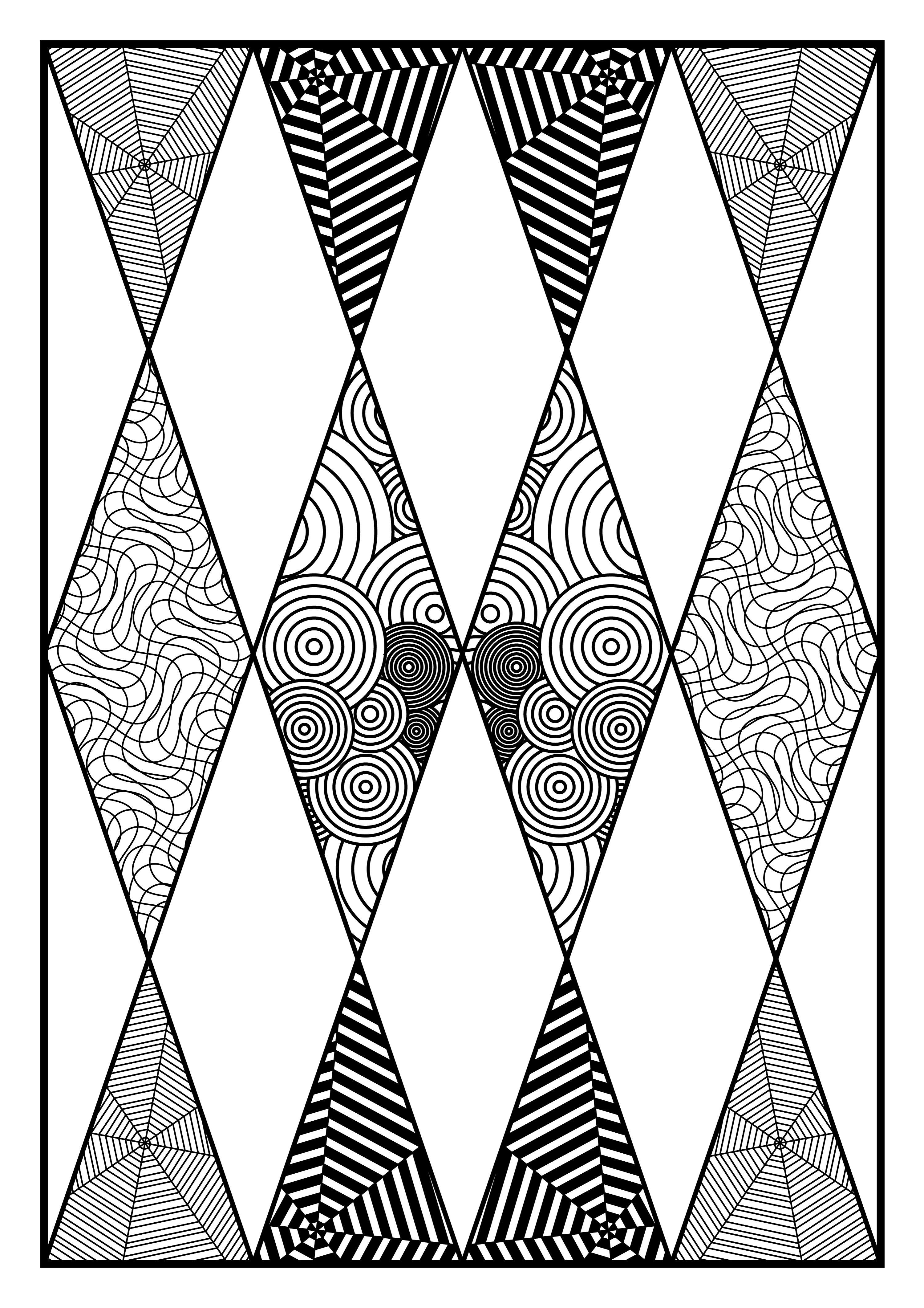 Zentangle Wall Art Triangles Pattern In 2020 Geometric