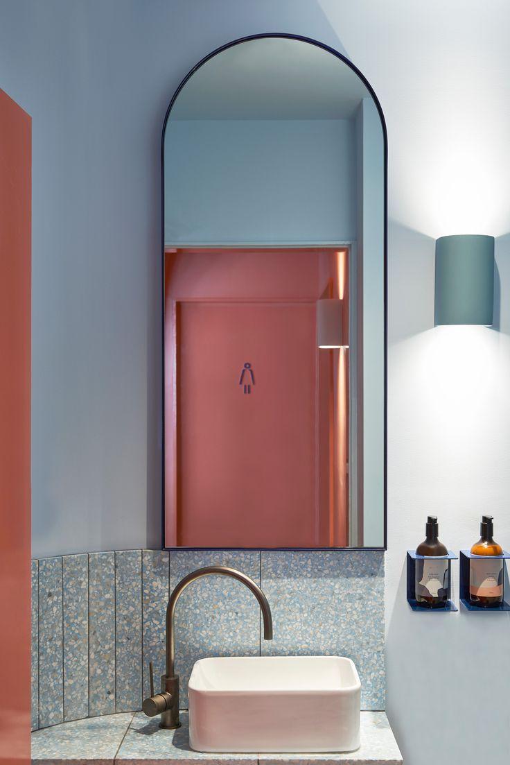 Ensuite badezimmerdesign studio esteta designs interior of fonda bondi  bathroom  pinterest