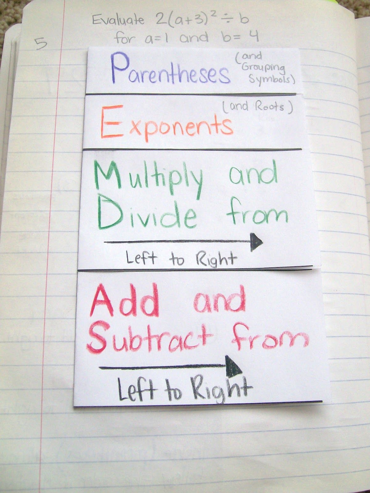 Math Love Order Of Operations Pemdas Foldable And