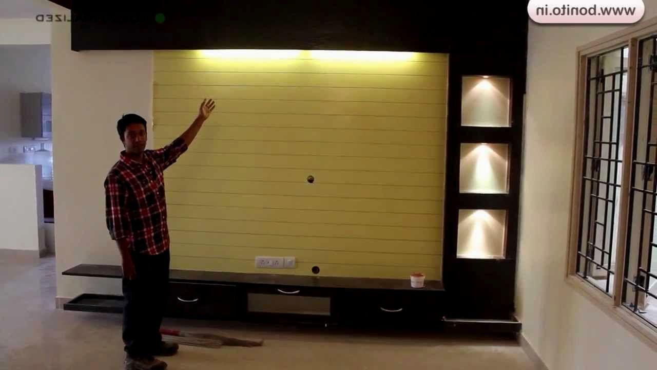 Beautiful Showcase Design For Hall In India Tv Unit Design