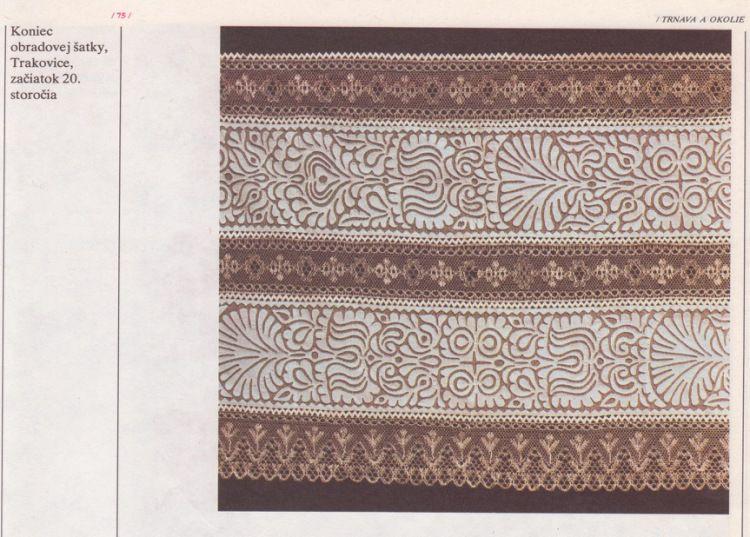Slovakia embroidery-applications. Composition:batiste,tulle,bobbin lace. Slovenská ľudová výšivka, aplikácia - batist na tyle,Trakovice