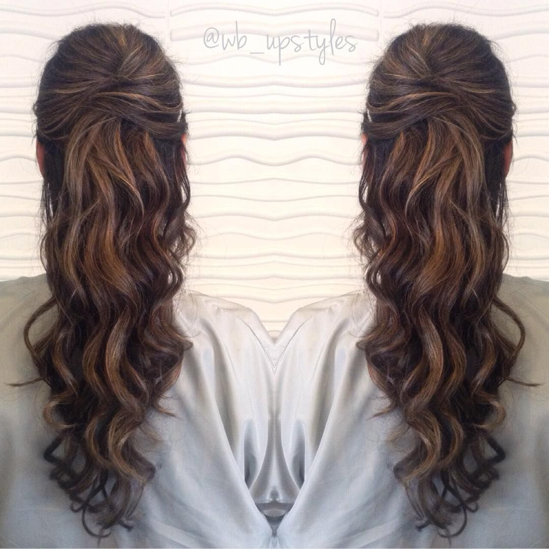 """Top 3 Half Up Half Down Wedding Hairstyles To Try: """"One Of The (3) Bridal Upstyles I Did This Past Weekend"""