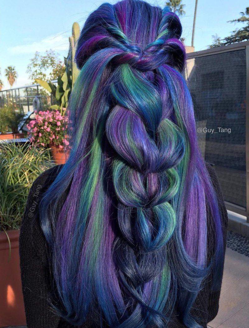 blue and purple hair ideas rainbow hair color so awesome it