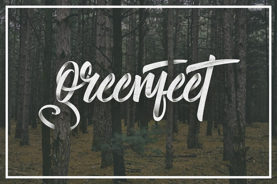 greenfeet lettering for reggae party #lettering #typography  #typegang  #ligature #ligaturecollective #calligraphy #handlettering #handwriting #vector #digital #reggae #greenfeet #forest #jungle