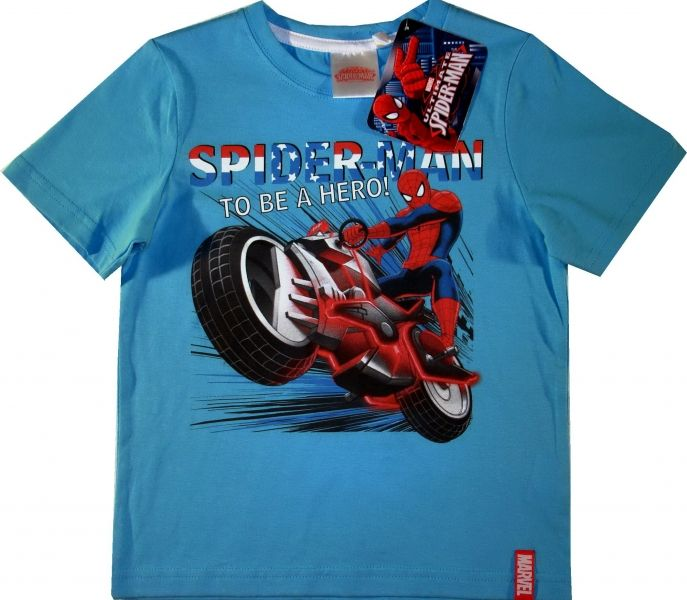 Tricou oficial Marvel cu Spiderman, 100% bumbac