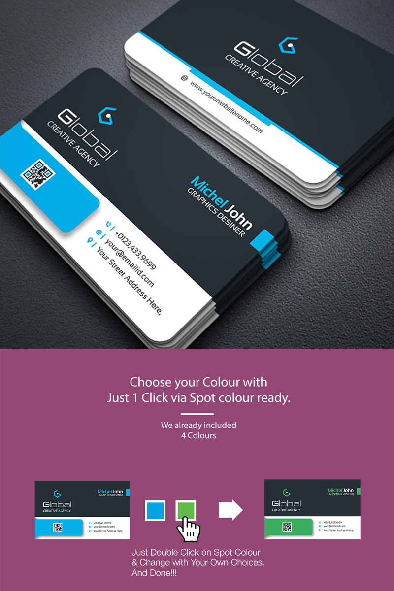 Smart And Simple Business Card Design Template Business Card Design Simple Business Cards Creative Templates Business Cards Creative