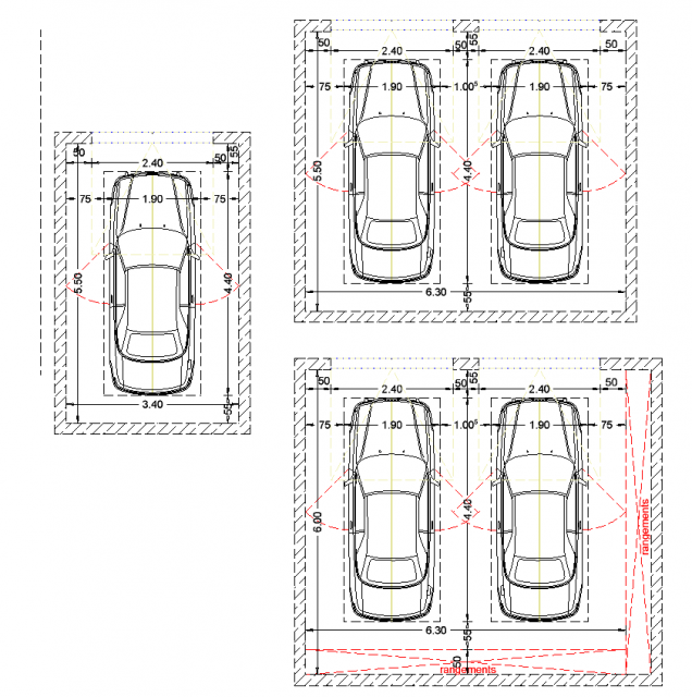 R sultat de recherche d 39 images pour dimension garage for Plan de garage