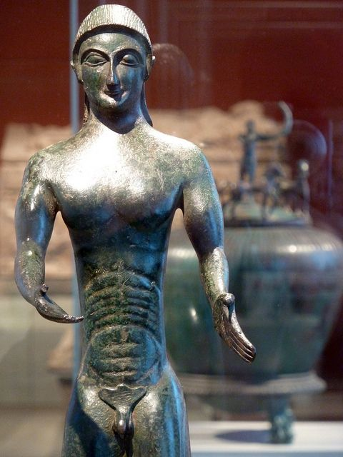 "Figurine of a Naked Youth (Etruscan, about 500 BC) ""Italia Antiqua"" - Etruscan and Roman Art. Altes Museum, Berlin."
