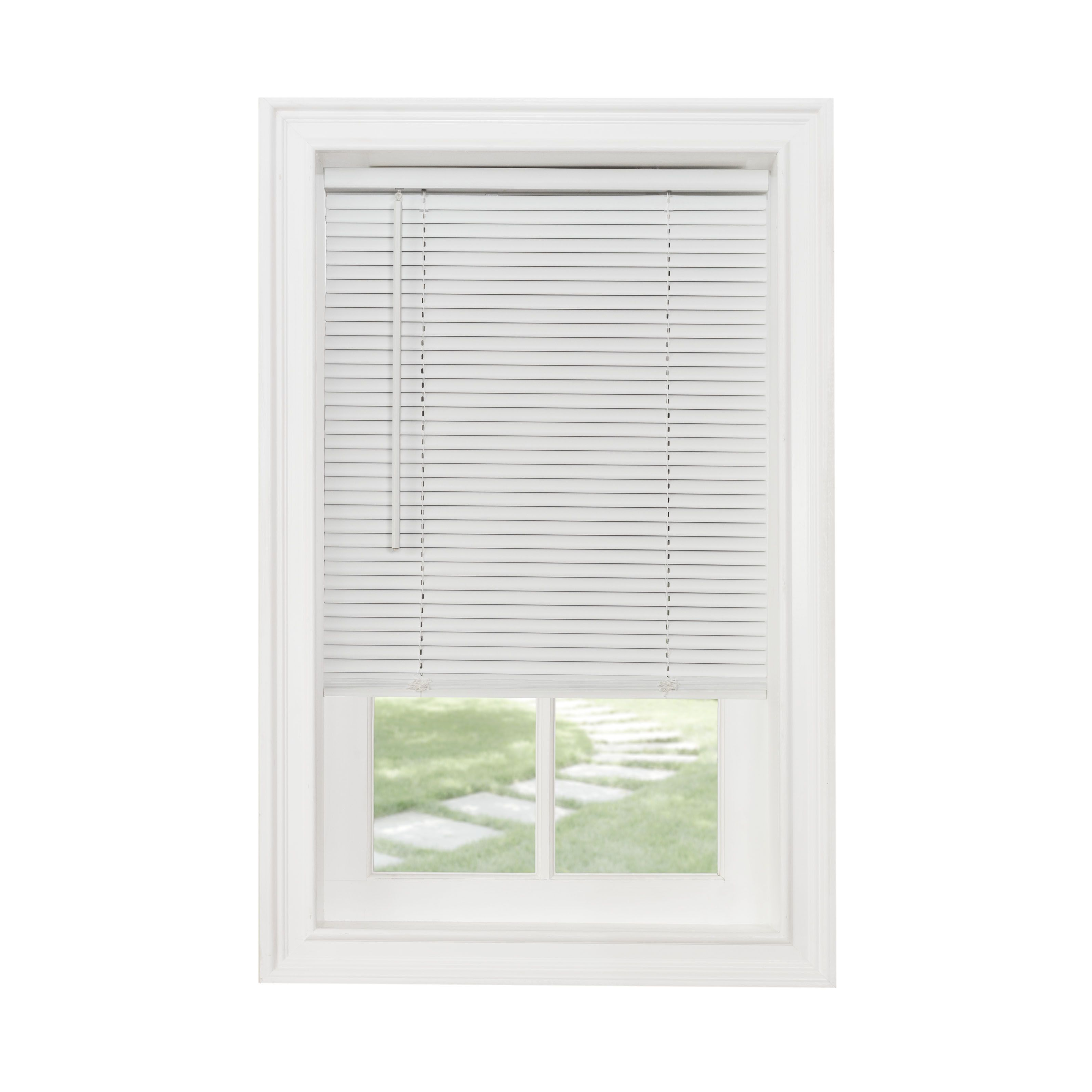 Free 2 Day Shipping Buy Achim Cordless Gii Morningstar 1 Light Filtering Mini Window Blind White At Walmar Horizontal Blinds Blinds For Windows Vinyl Blinds