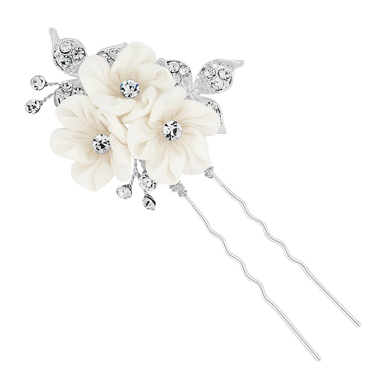 alan hannah devoted designer triple silk flower hair pin