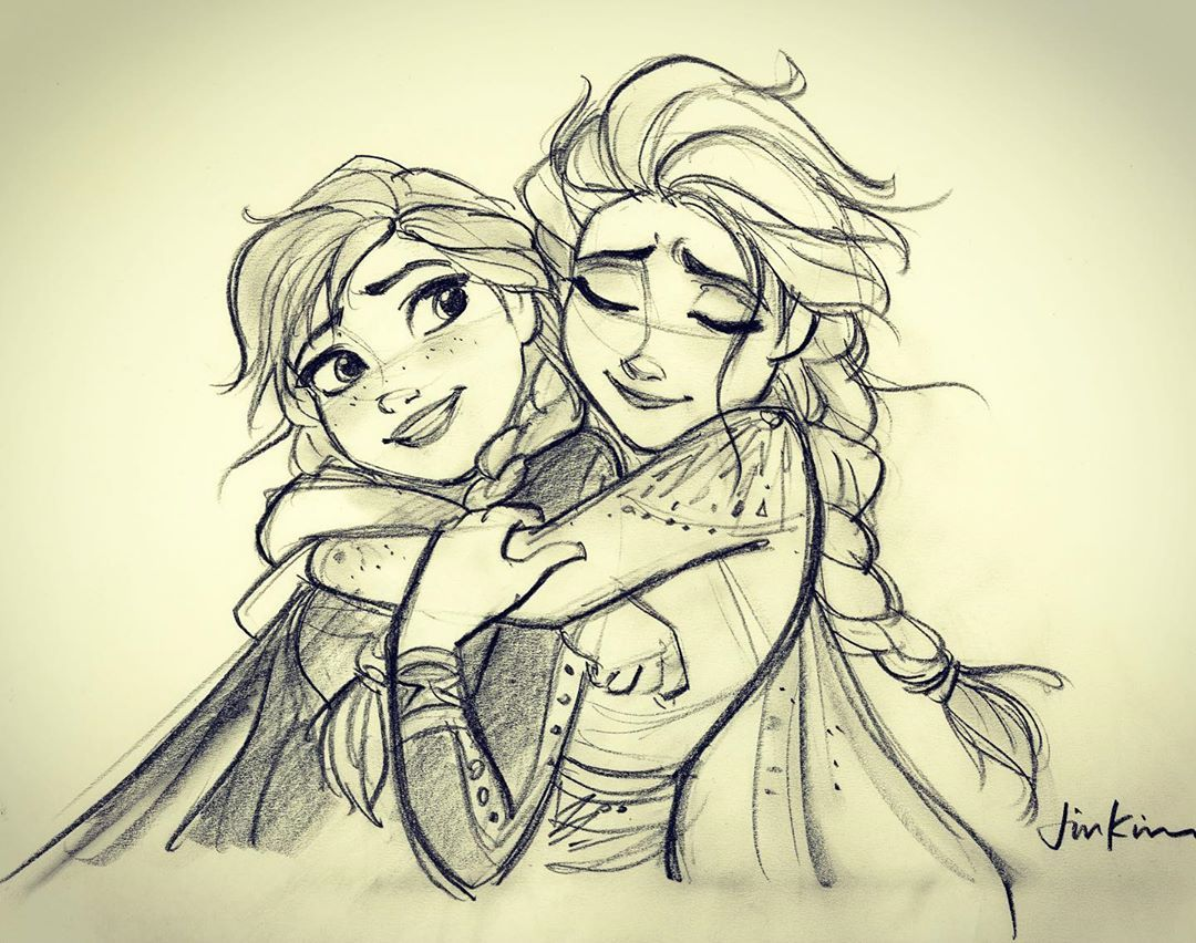 Elsa And Anna Are My Hero Disney Art Drawings Disney Princess Drawings Frozen Art