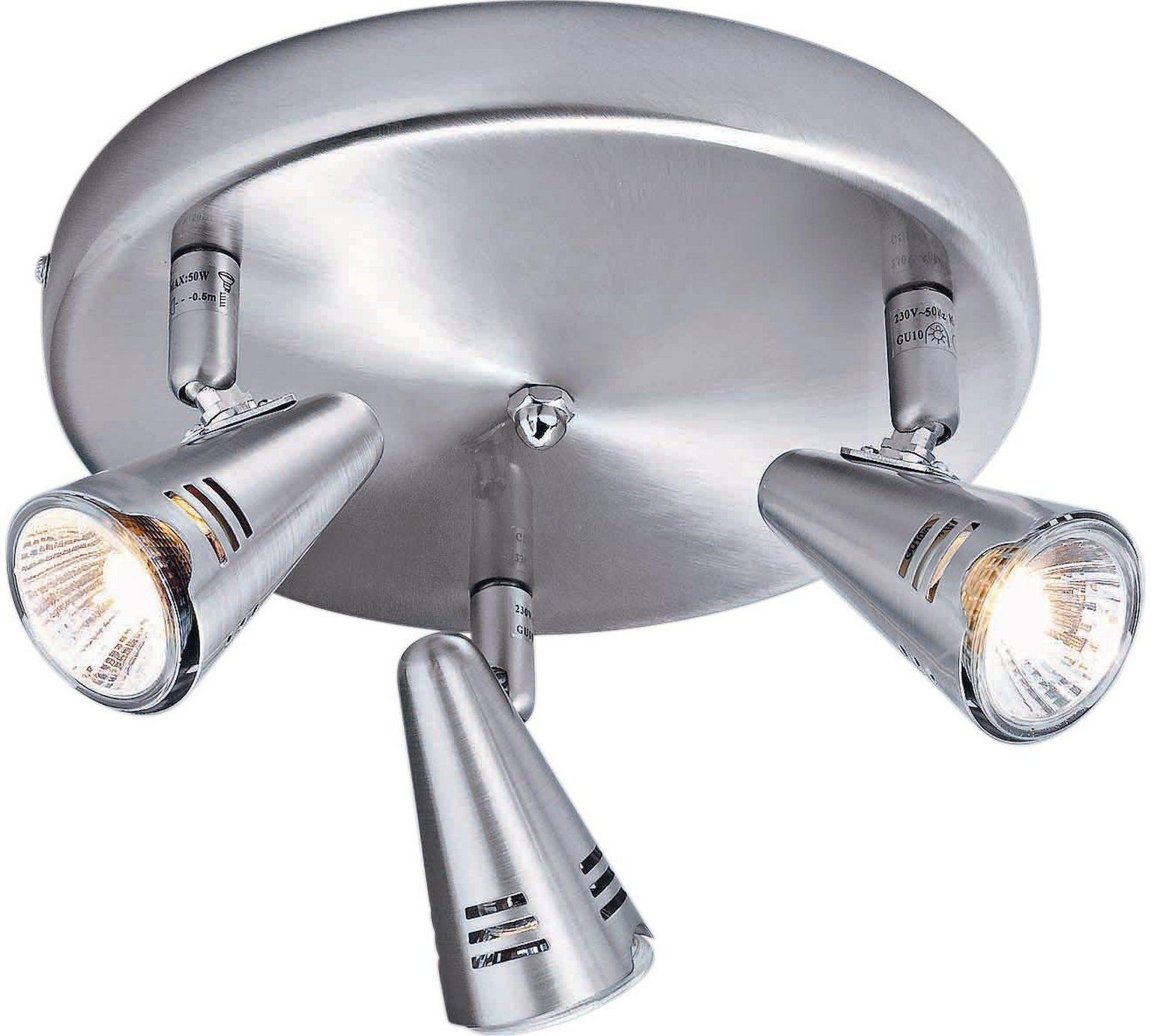 Buy home metza 3 spotlight ceiling plate silver at argos buy home metza 3 spotlight ceiling plate silver at argos mozeypictures Gallery