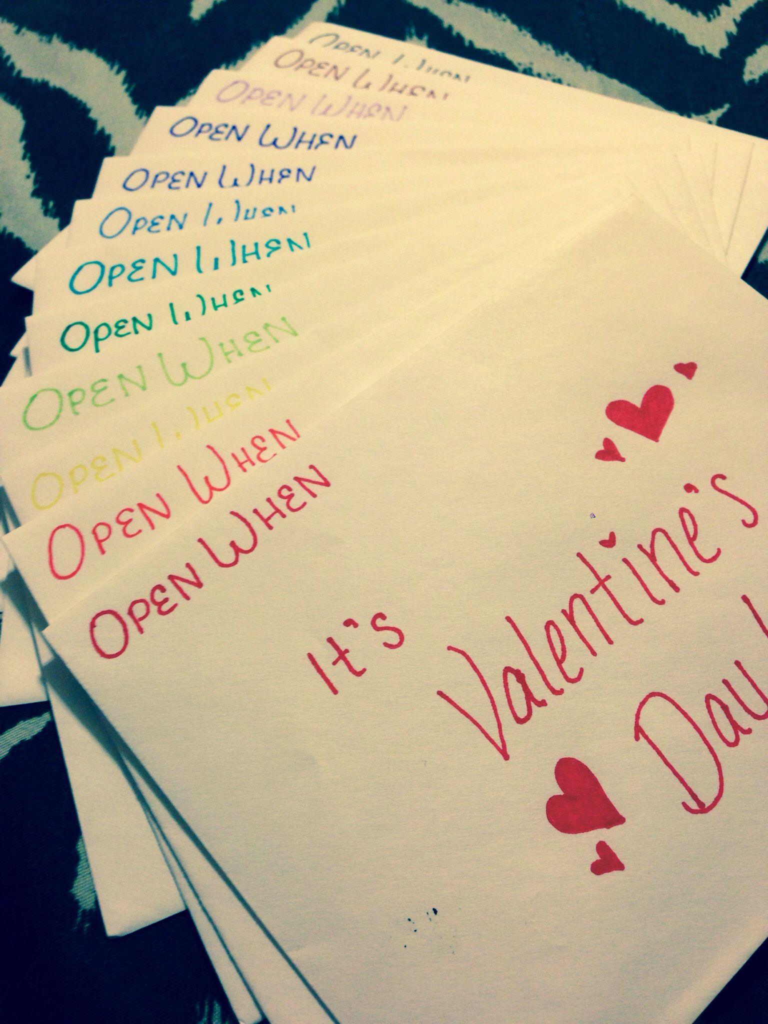 Open when letters for my boyfriend great diy gift for him for Perfect gift for my boyfriend