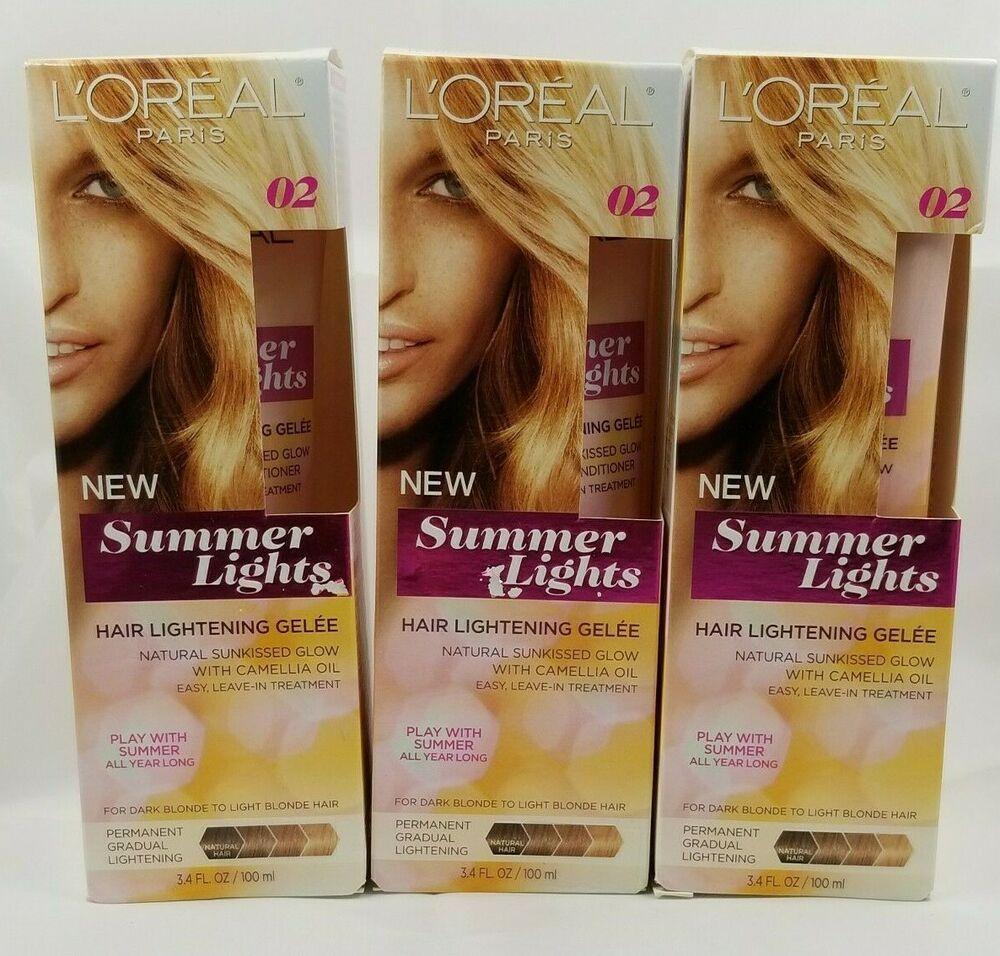 3 Pack Loreal Paris Summer Lights Hair Lightening Gelee Light To