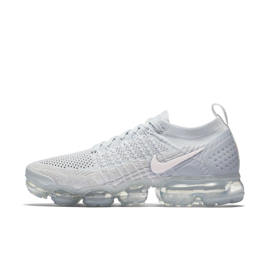 sneakers for cheap 29dde 2b229 Nike Air VaporMax Flyknit 2 Metallic Women s Shoe Size 12 (Pure Platinum)