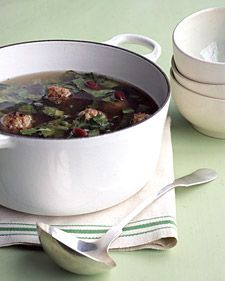 Escarole Kidney Bean And Meatball Soup Variation On Italian Wedding Try Without
