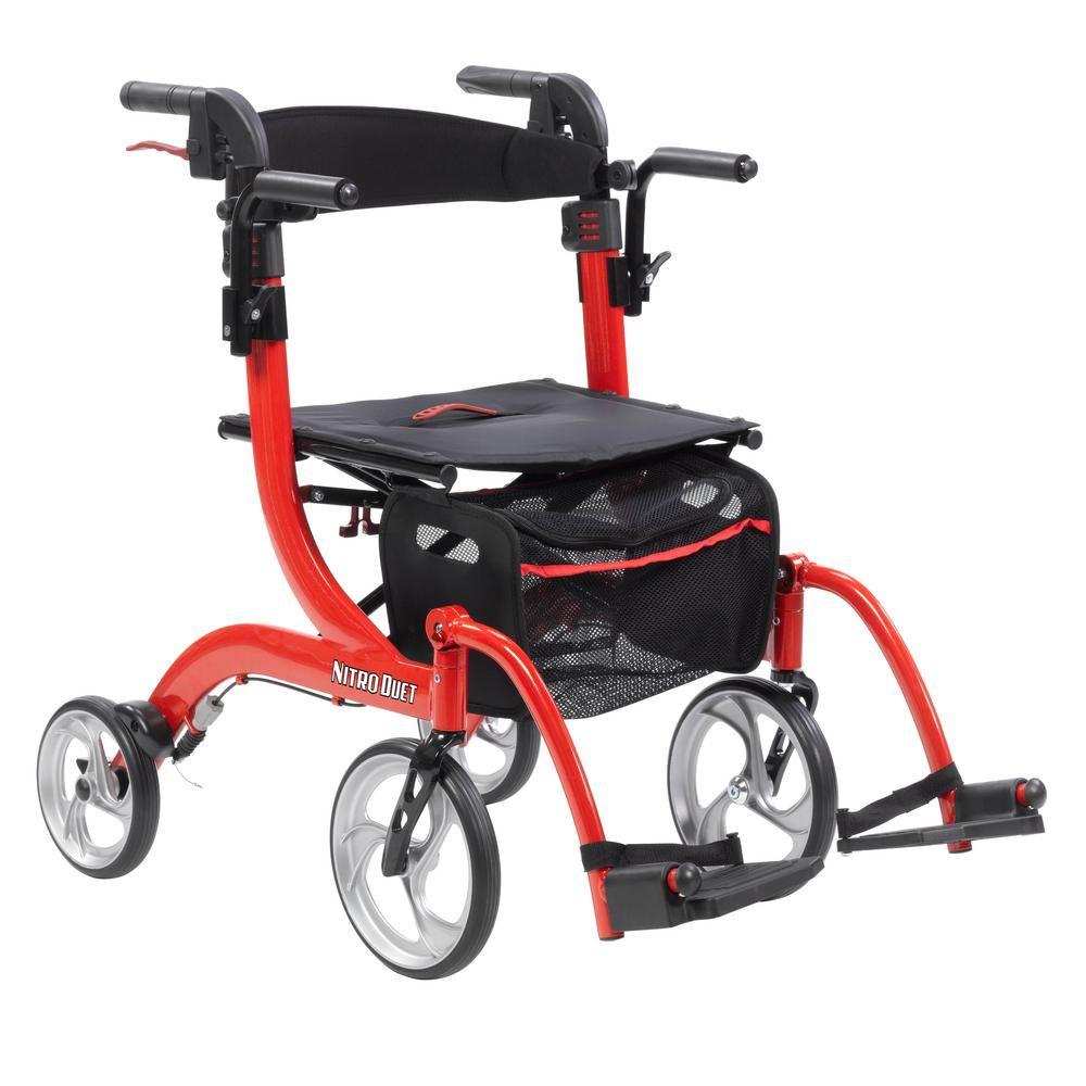 Drive Medical 4 Wheel Nitro Duet Dual Function Transport