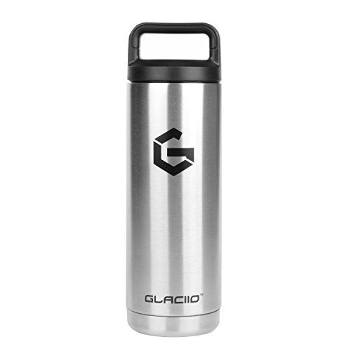 Glaciio Double Wall Vacuum Insulated Wide Mouth Stainless Steel Water Bott Stainless Steel Water Bottle Vacuum Insulated Insulated Stainless Steel Water Bottle