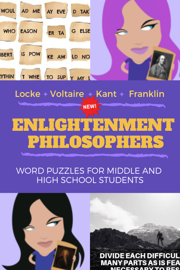 Teachers Pay Teachers Enlightenment Philosophers - Quotation Detective Word Puzzles BUNDLE