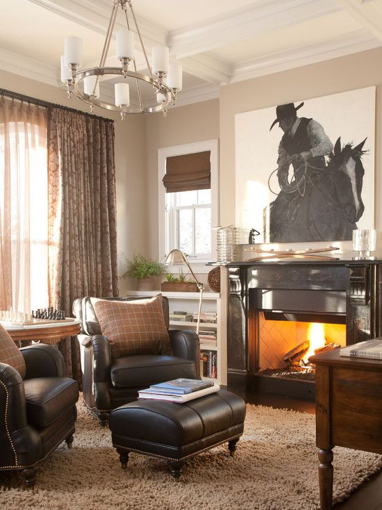 Traditional Home Office Design Ideas Pictures Remodel Decor Cowboy Living Room Western Living Room Decor Western Living Room