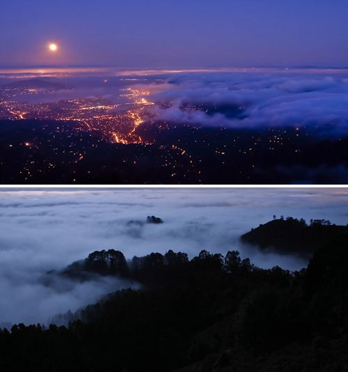 I love fog and mist, and watching it move in from above.  Reminds me of living in Malibu.