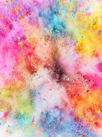 pretty backgrounds for iphone colorful powder explosion wallpaper cover wallpaper 2318