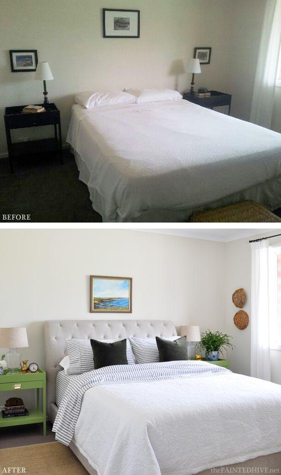 An Impromptu Coastal Bedroom Makeover Before After Bedroom Makeover Before And After Bedroom Makeover Coastal Bedrooms
