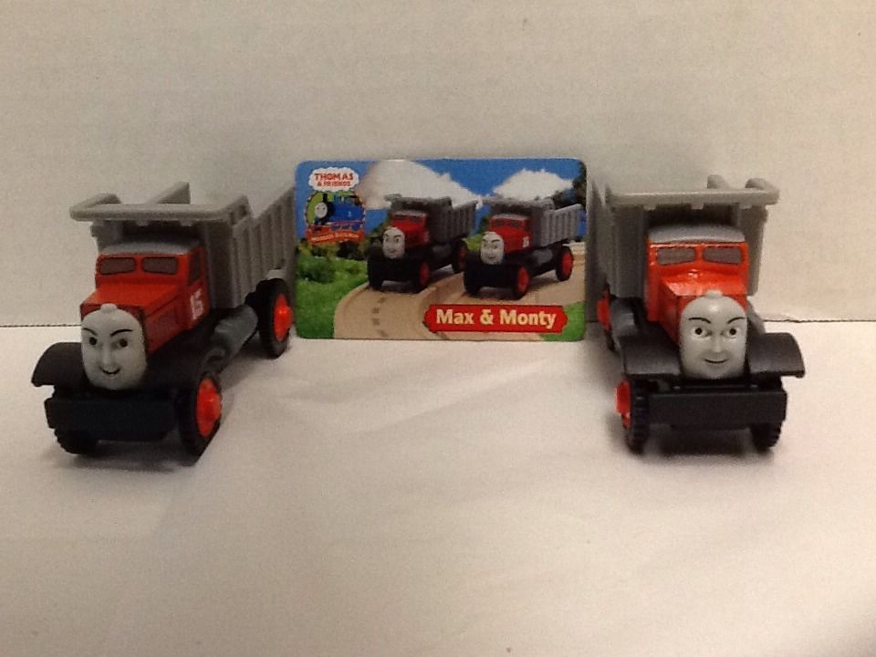 Max  Monty Dump Trucks Thomas Friends Character Card Wooden Gullane 2003 #Gullane
