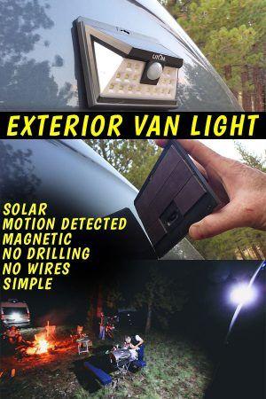 Photo of DIY Outdoor Van Light: Solar, Magnet & Movement Detected!
