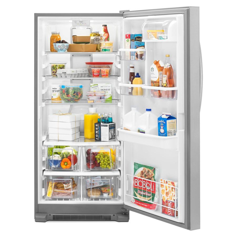 Shop Whirlpool 17 7 Cu Ft Freezerless Refrigerator Monochromatic Stainless Steel At Lowes Com Freezerless Refrigerator Refrigerator Lowes Home Improvements