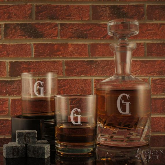 Connoisseur Distiller's Decanter and Stopper with Deep Sand Carved Personalization with Choice of Design & Font from Our Selection (Each) by DesignstheLimit #TrendingEtsy
