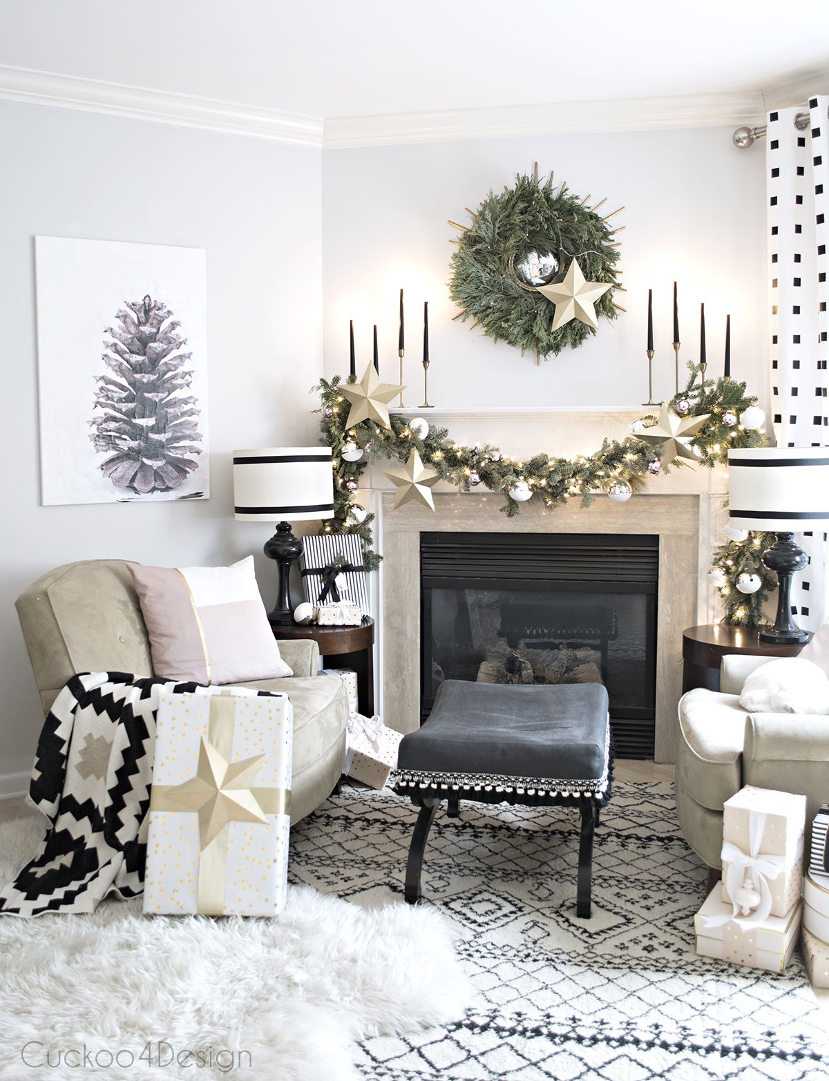 Better Homes and Gardens Christmas Ideas Home Tour | White fireplace ...