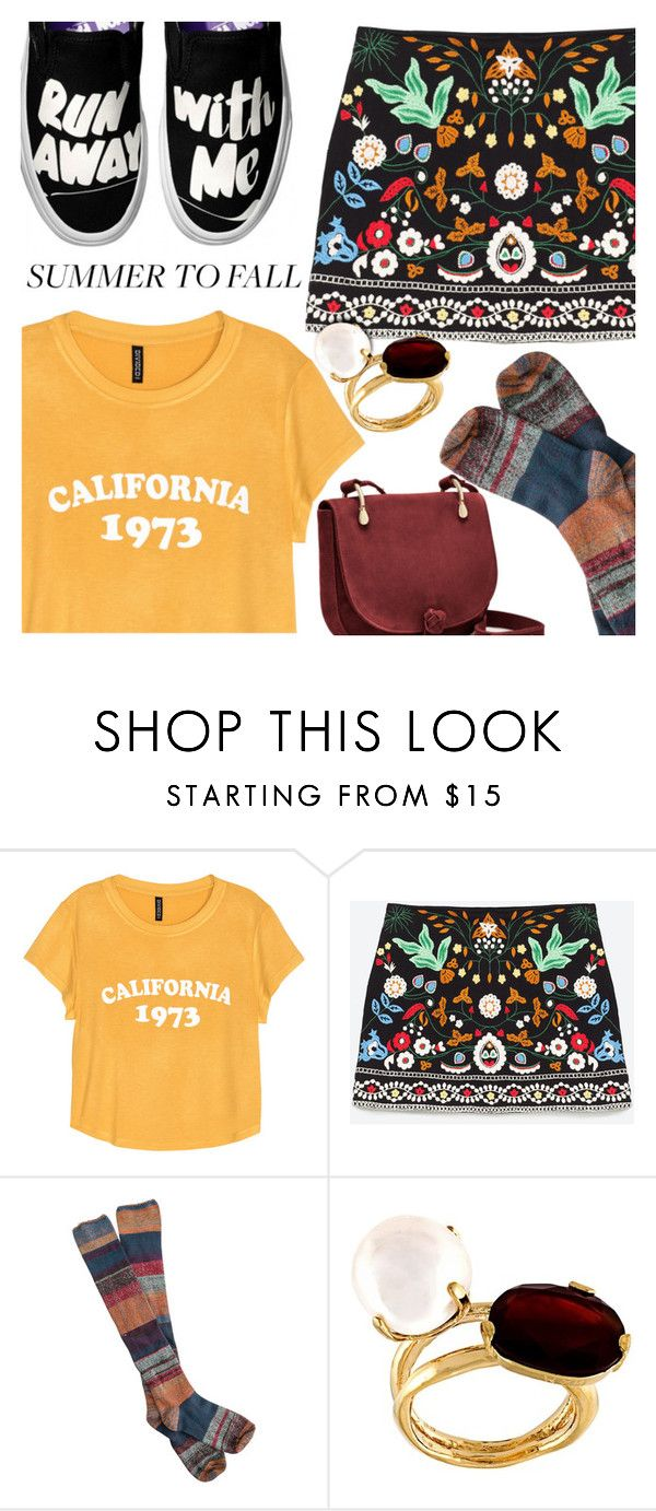 """""""Summer to Fall"""" by stacey-lynne ❤ liked on Polyvore featuring H&M, Free People, Wouters & Hendrix and Elizabeth and James"""