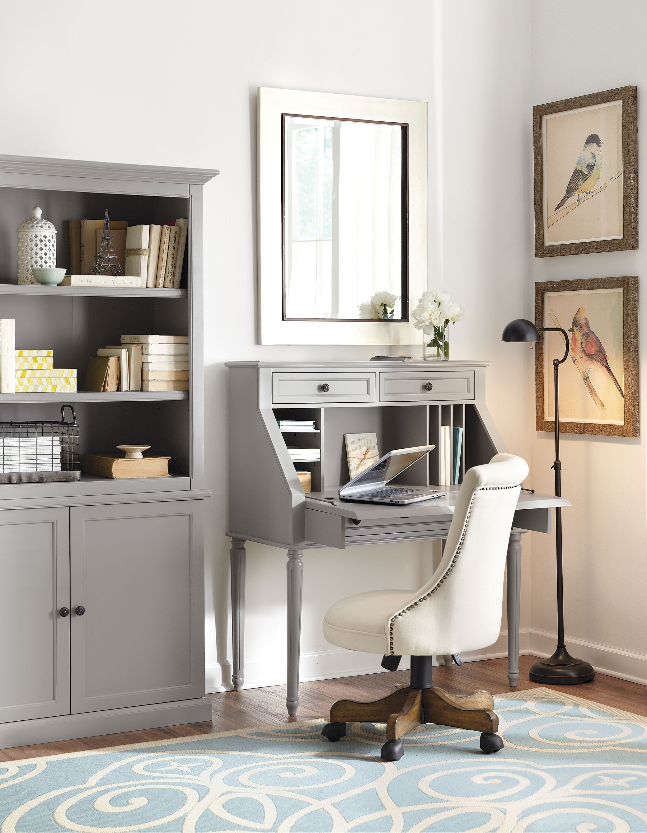 A Desk That Folds Up To Instantly Hide Any Clutter Homedecorators Com Reviveyourhome Small Secretary Desk Home Office Design Desks For Small Spaces
