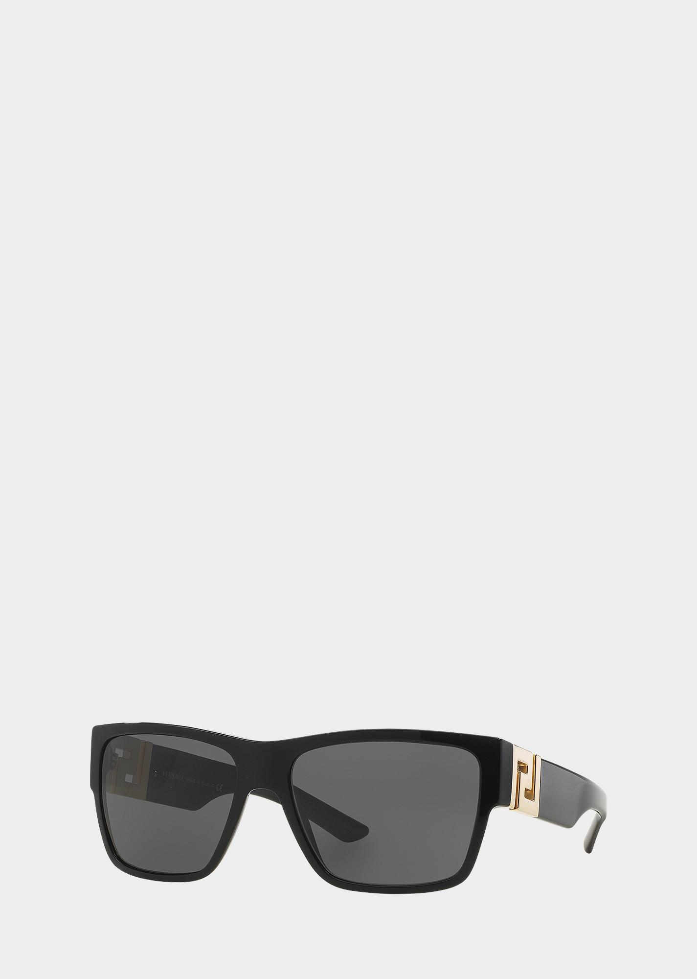 f60803da09c Black Greca Squared Sunglasses for Men