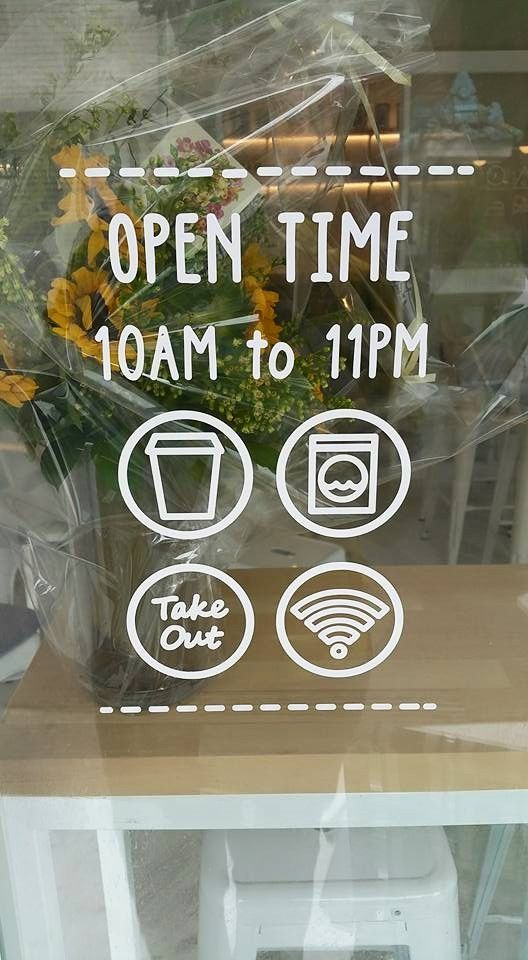 Signage Graphic Design Laundryproject Seoul Laundromat Bar Cafe Wifi Take Out With Images Cafe Window Coffee Shop Decor Coffee Shop Design