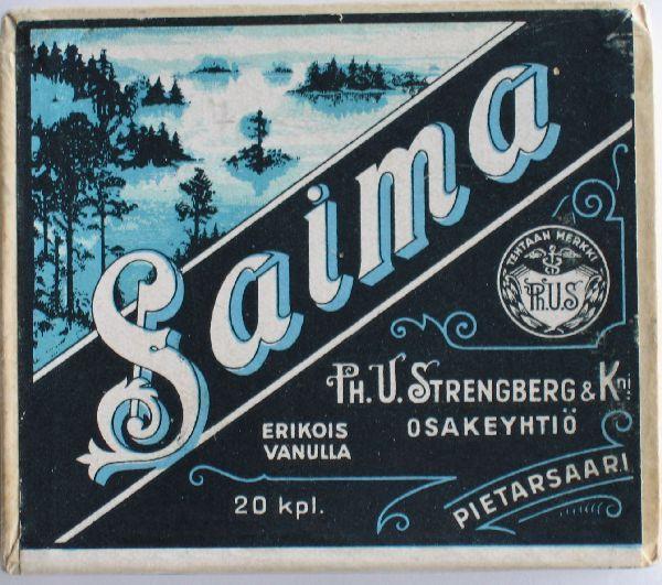 Old Finnish Tobacco, Made in Pietarsaari,