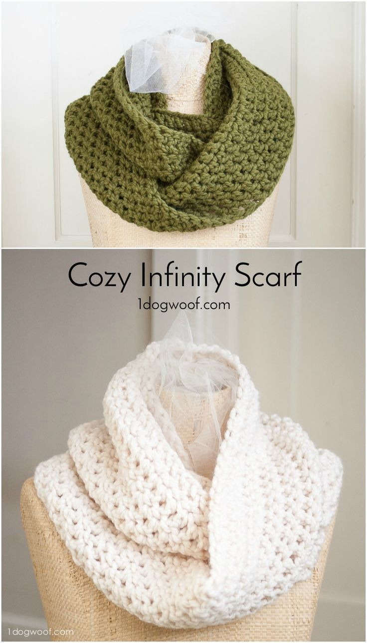 Cozy infinity scarf basic crochet stitches crochet stitches and this simple easy and cozy infinity scarf uses basic crochet stitches and can be finished bankloansurffo Image collections