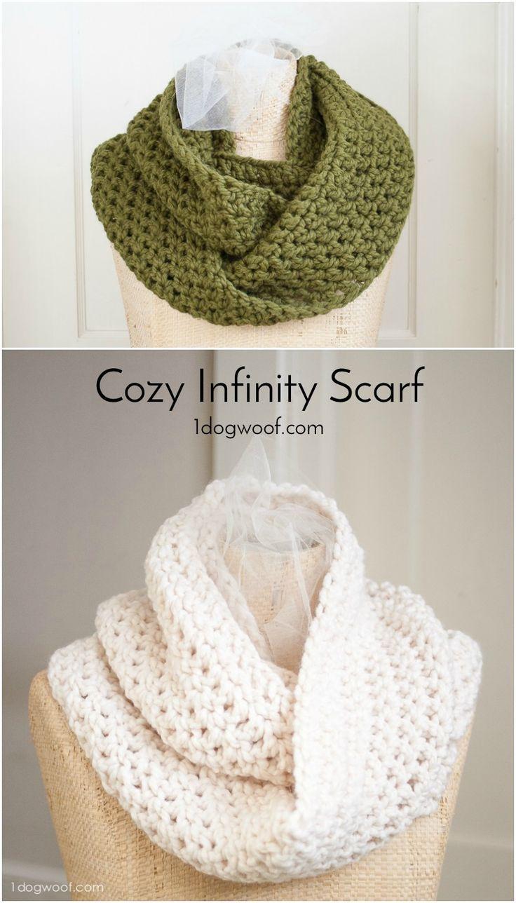 Cozy Infinity Scarf | Schals tücher, Häkelideen und Häkeln