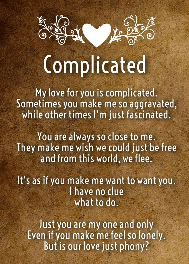 Complicated Love Poems Romantic Poems For Her