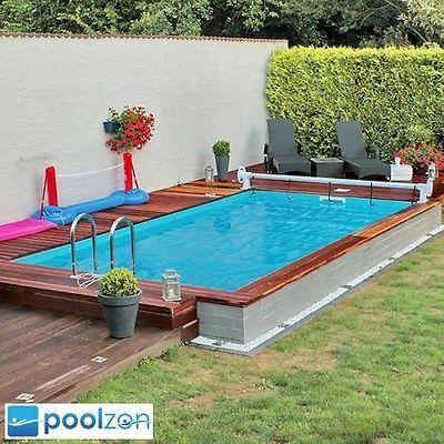 Styroporpool, Thermopool Schwimmbecken 7,00 x 3,50 x 1,50m inkl