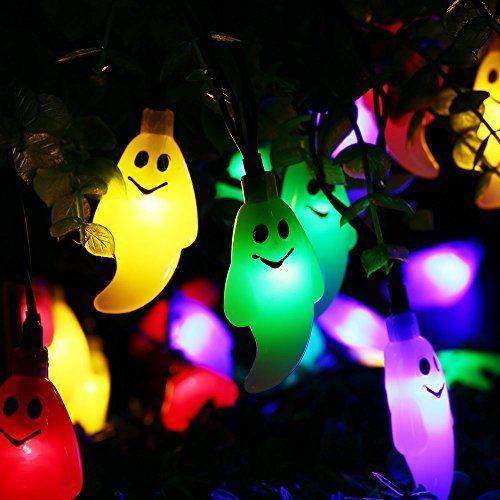 Review Qedertek Solar Halloween String Lights, 198ft 30 LED
