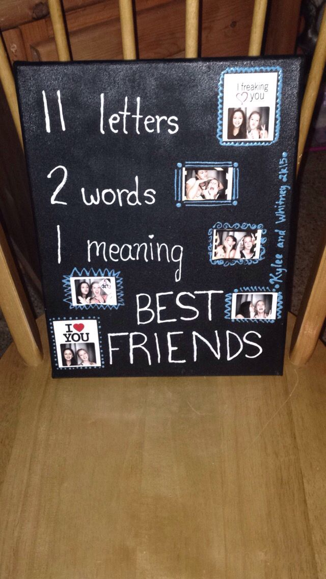 This canvas was made by my best friend as i we had a for Gift to give your best friend